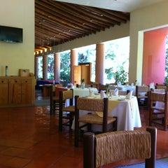 Photo taken at Restaurant Los Azulejos Hotel Camino Real Ixtapan De La Sal by David F. on 3/8/2012