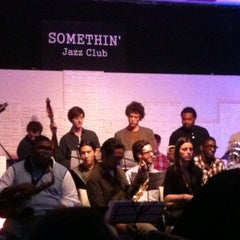 Photo taken at Somethin' Jazz Club by Luis N. on 4/28/2012
