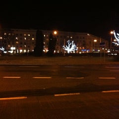 Photo taken at Plac Wilsona by Ella K. on 12/19/2011