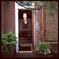 Photo taken at Leaf Cafe & Bar by Jeni B. on 6/6/2012