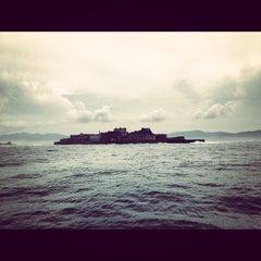 Photo taken at 端島 (軍艦島) Hashima (Gunkanjima) Island by ykr_gnn on 8/8/2012