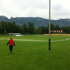 Photo taken at Rheinauen Diepoldsau by Fabian W. on 7/13/2012