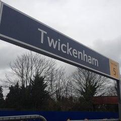 Photo taken at Twickenham Railway Station (TWI) by Ben W. on 3/17/2012