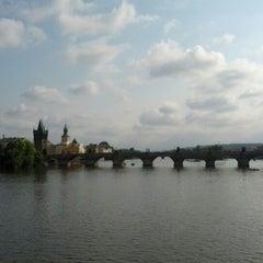 Photo taken at Mánesův most by Gediminas A. on 9/2/2012