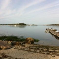 Photo taken at Barlow's landing beach by Lisa N. on 5/18/2012