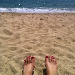 Photo taken at Platja de Sant Simó by Eva S. on 5/12/2012