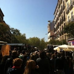 Photo taken at Rastro de Madrid by Victor S. on 4/8/2012