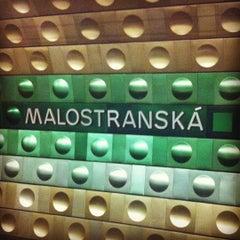 Photo taken at Metro =A= Malostranská by Ondřej P. on 10/10/2011