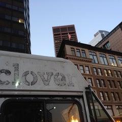 Photo taken at Clover Food Truck (Dewey Sq) by meriko b. on 11/12/2011