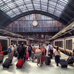 Photo taken at London St Pancras Eurostar Terminal by Bryan H. on 8/19/2012