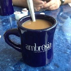 Photo taken at Ambrosia Taverna by Patrick K. on 7/6/2012