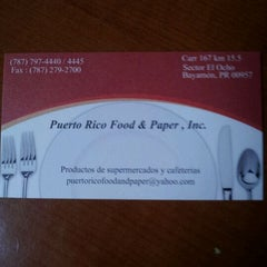 Photo taken at Puerto Rico Food & Paper by Rubimarie G. on 12/29/2011