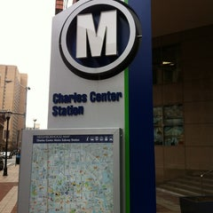 Photo taken at Charles Center Metro Station by Dj G. on 2/11/2012