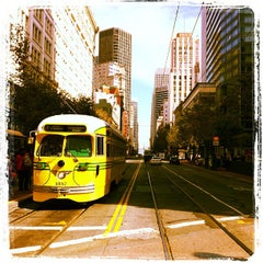 Photo taken at MUNI Bus Stop - 4th & Market by Trent V. on 10/15/2011