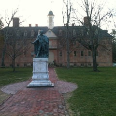 Photo taken at Wren Building and Courtyard by Chris V. on 1/24/2012