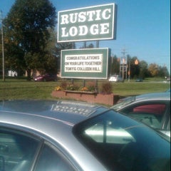 Photo taken at Rustic Lodge by Amanda T. on 10/8/2011