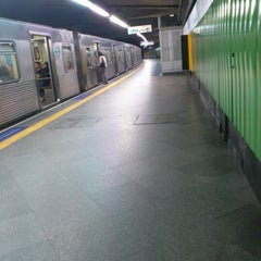 Photo taken at Estação Vila Mariana (Metrô) by Denise V. on 8/1/2012