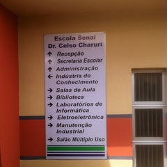 Photo taken at Escola SENAI Dr. Celso Charuri by Paulo W. on 10/15/2011