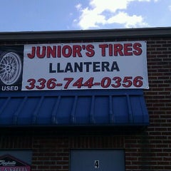 Photo taken at Junior's Tires (llantera) by Richard C. on 12/31/2011