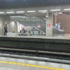Photo taken at 捷運忠義站 MRT Zhongyi Station by guanhua on 8/1/2012