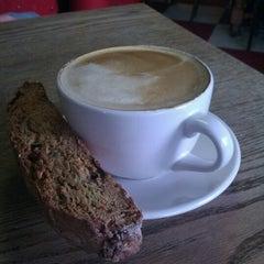 Photo taken at Macy's European Coffeehouse & Bakery by Janine B. on 10/1/2011
