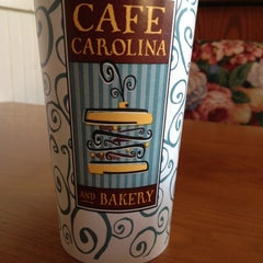Photo taken at Cafe Carolina and Bakery by Katie S. on 1/3/2012