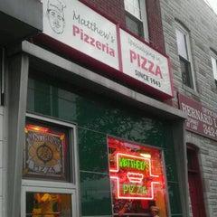 Photo taken at Matthew's Pizza by Ari S. on 4/14/2012