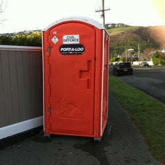 Photo taken at Orange Portaloo Wiggins Street by Justin H. on 6/16/2011