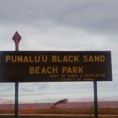 Photo taken at Punalu'u Black Sand Beach by Jamie C. on 8/24/2011