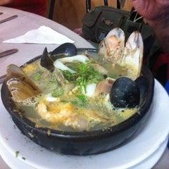 Photo taken at Restaurant Marisquería Marcoa by Claudio G. on 3/17/2012