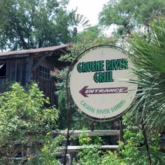 Photo taken at Gruene River Grill by Dany C. on 7/22/2012