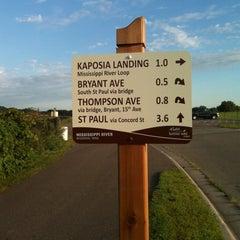 Photo taken at Kaposia Landing Off-Leash Dog Park by Rick J. on 8/18/2011