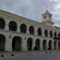 Photo taken at Plaza 9 de Julio by Tomer on 2/23/2012