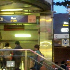 Photo taken at MRT สีลม (Si Lom) SIL by David S. on 9/14/2011