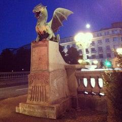 Photo taken at Zmajski most / Dragon Bridge by Klemen V. on 7/31/2012