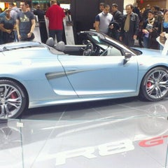 Photo taken at Audi Stand at Detroit Auto Show by Oscar S. on 1/21/2012