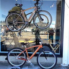 Photo taken at Renovo Hardwood Bicycles by Powen S. on 9/2/2012