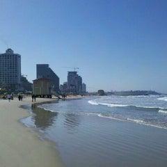 Photo taken at Frishman Beach (חוף פרישמן) by dan k. on 2/11/2012