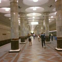 Photo taken at Метро Киевская, Филёвская линия (metro Kiyevskaya, line 4) by Ksenia K. on 7/29/2012