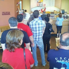 Photo taken at Bruegger's by Dean P. on 9/10/2011