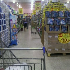 Photo taken at Lopes Supermercados by Manoel Antônio A. on 12/2/2011