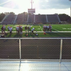 Photo taken at Guilford Stadium by Veronica T. on 8/24/2012