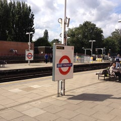 Photo taken at East Finchley London Underground Station by Nick P. on 8/22/2012