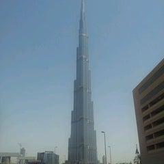 Photo taken at Burj Khalifa / Dubai Mall Metro Station محطة مترو برج خليفة / دبي مول by AA M. on 5/11/2012