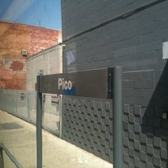Photo taken at Pico (Chick Hearn) Metro Station by C. A. on 4/28/2012