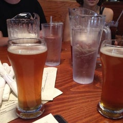 Photo taken at Twain's Brewpub & Billiards by Jamie Q. on 4/4/2012