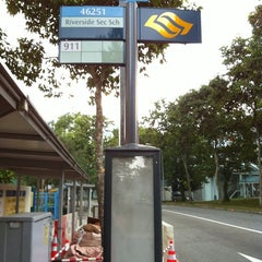 Photo taken at Bus Stop 46251 (Riverside Secondary School) by Dönałd ʕ •ᴥ•ʔ on 5/16/2011