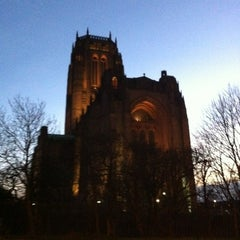 Photo taken at Liverpool Cathedral by Izumi N. on 12/18/2011