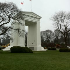 Photo taken at Peace Arch Border Crossing by H. C. on 2/6/2011