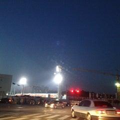 Photo taken at 무등야구장 (Mudeung Baseball Stadium) by Dianne C. on 9/5/2012